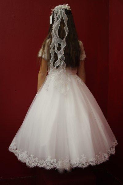 Communion Dress Style White angel lily