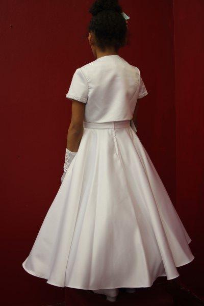 Girls Communion Dress Style White Angel Dotty