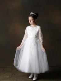Girls Communion Dress Style Yaram-Front